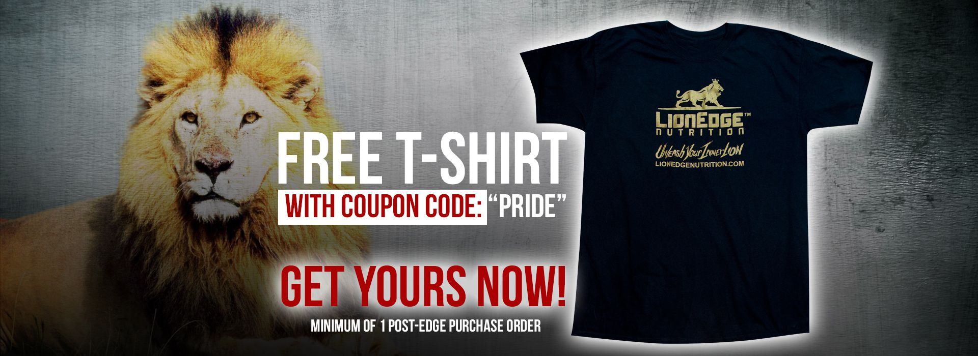 Free LionEdge Nutrition T-Shirt With Coupon Code