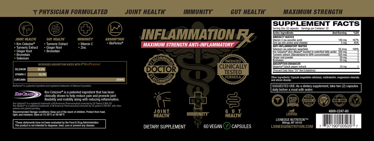 Inflammation Rx Product Label